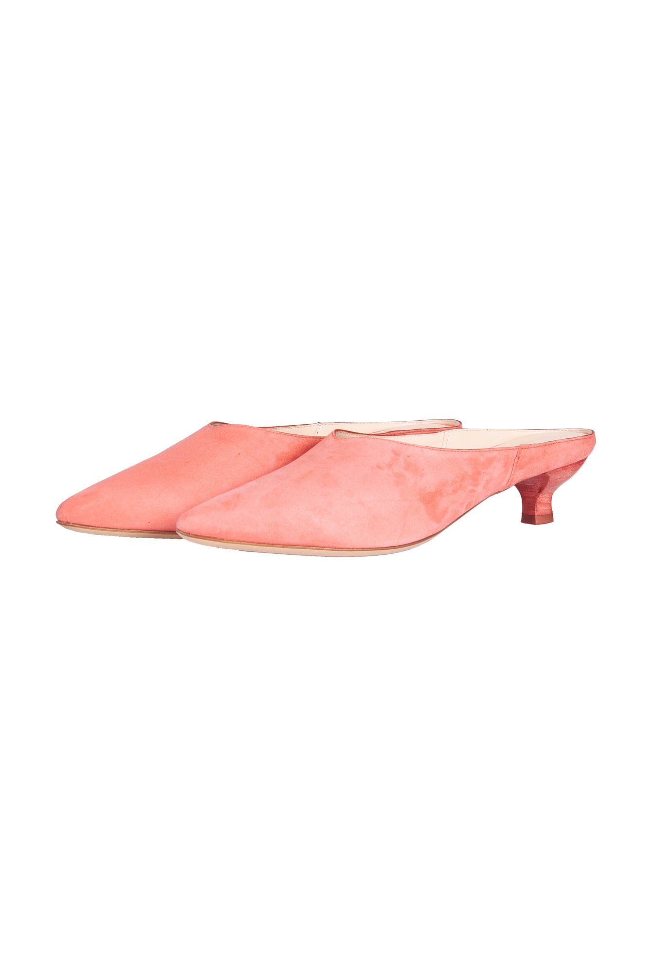 Pink Suede Leather Sabot