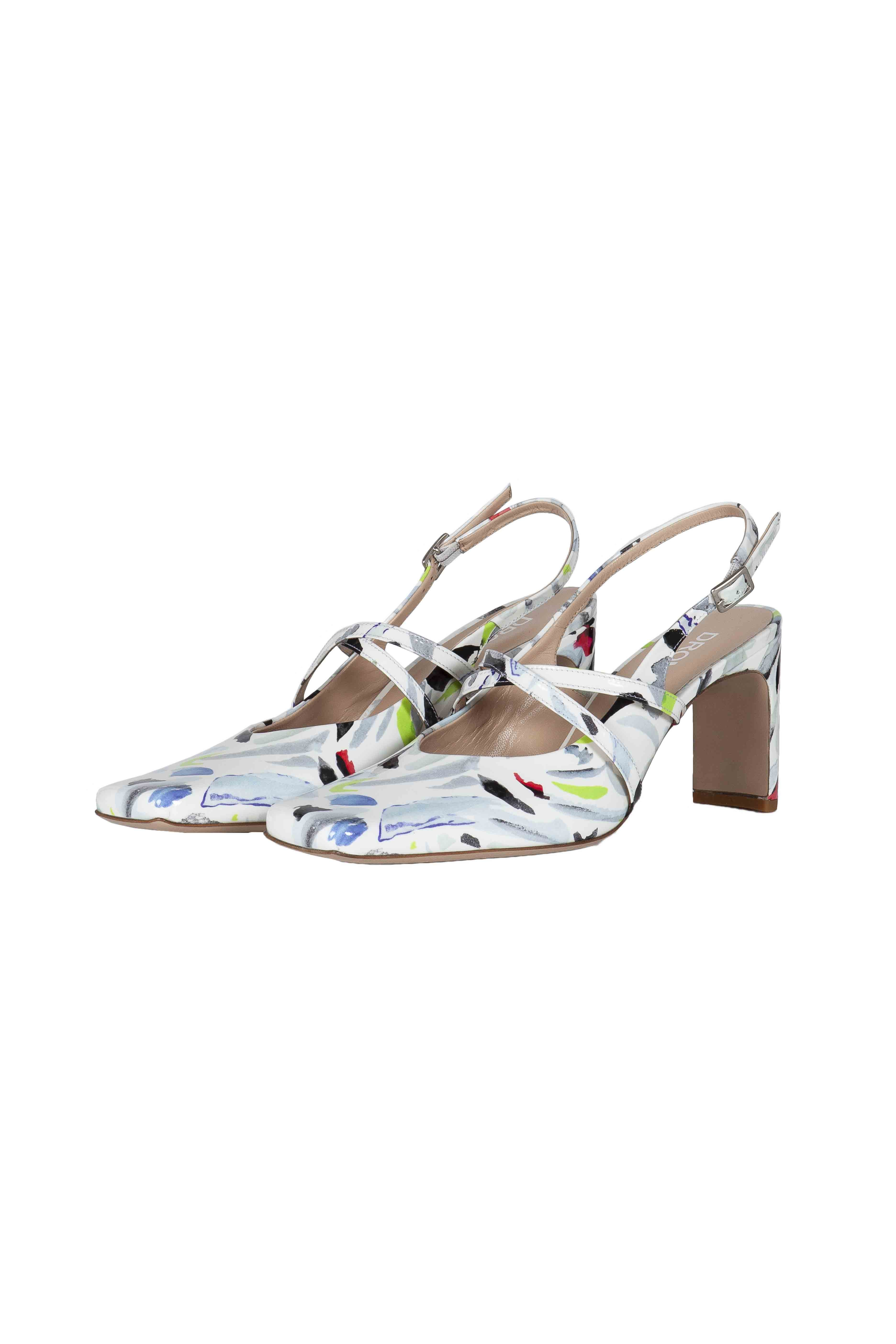 Printed Patent Leather Sandals