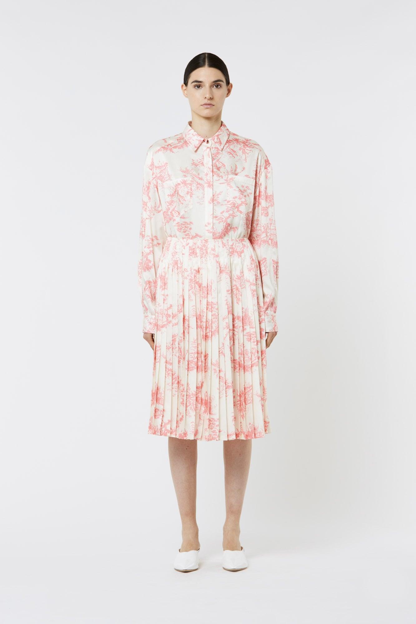 Toile de Jouy Shirt in Silk Twill
