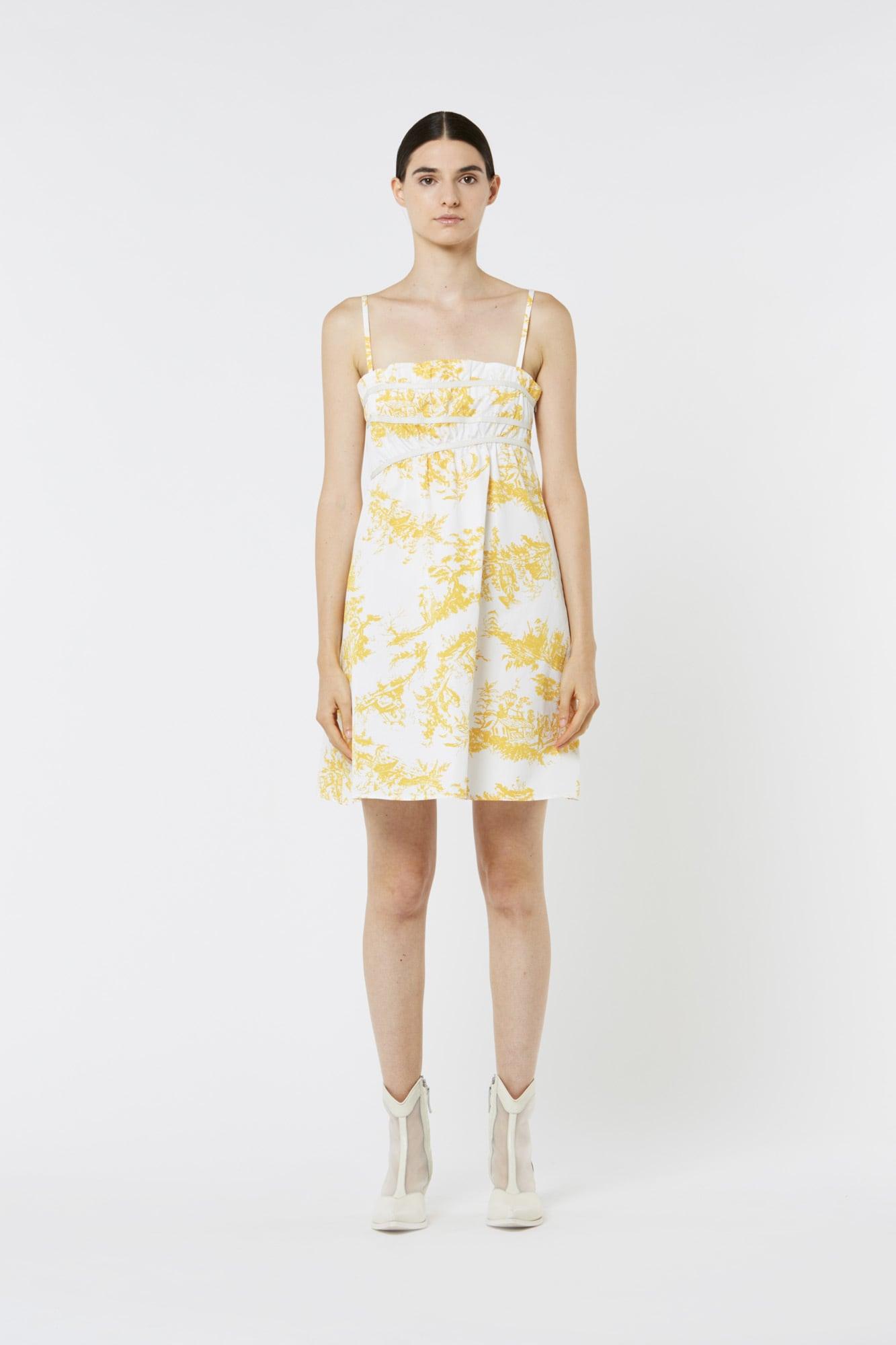 Toile de Jouy Popeline Dress