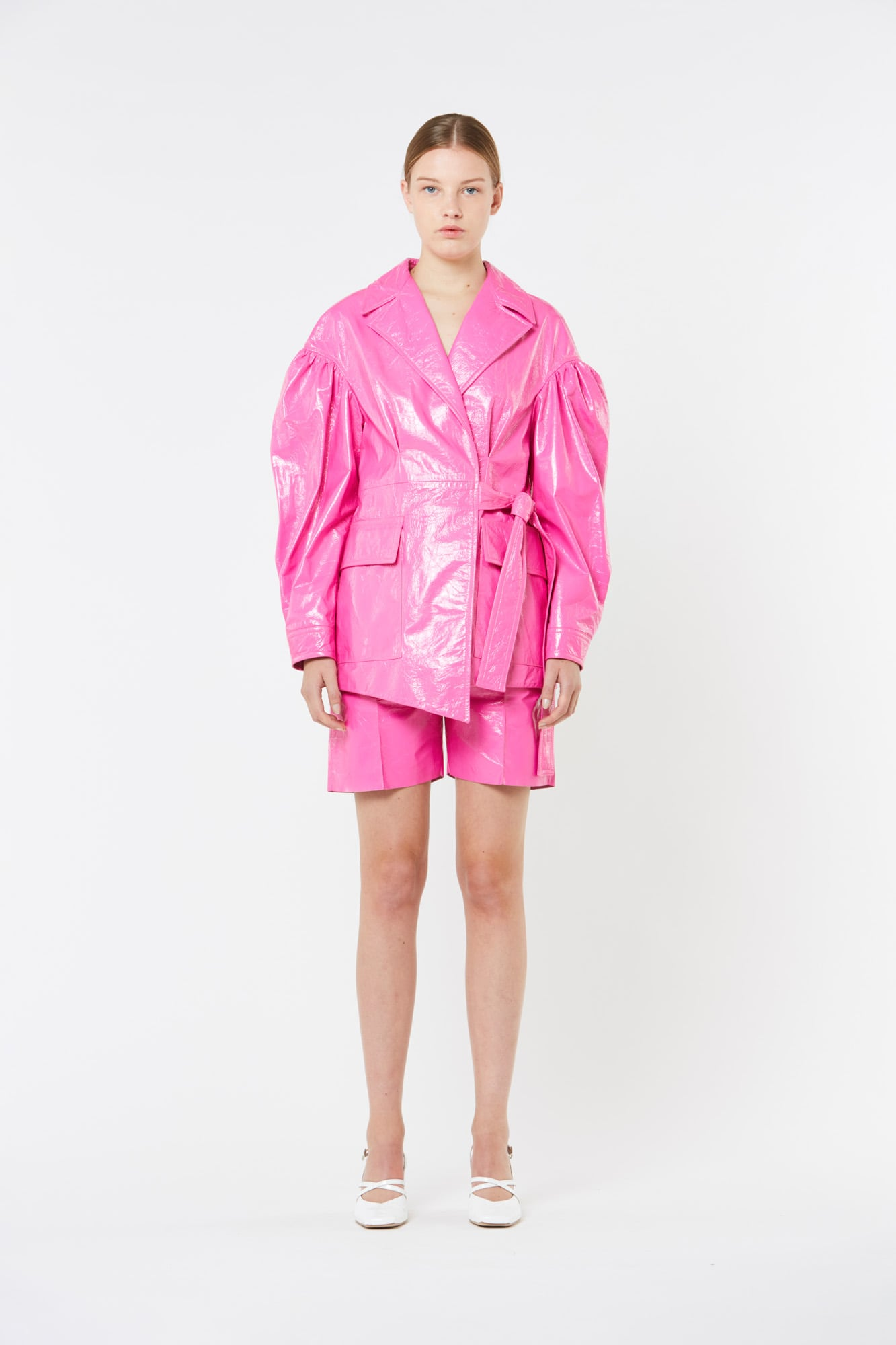 Fuxia Patent Leather Jacket