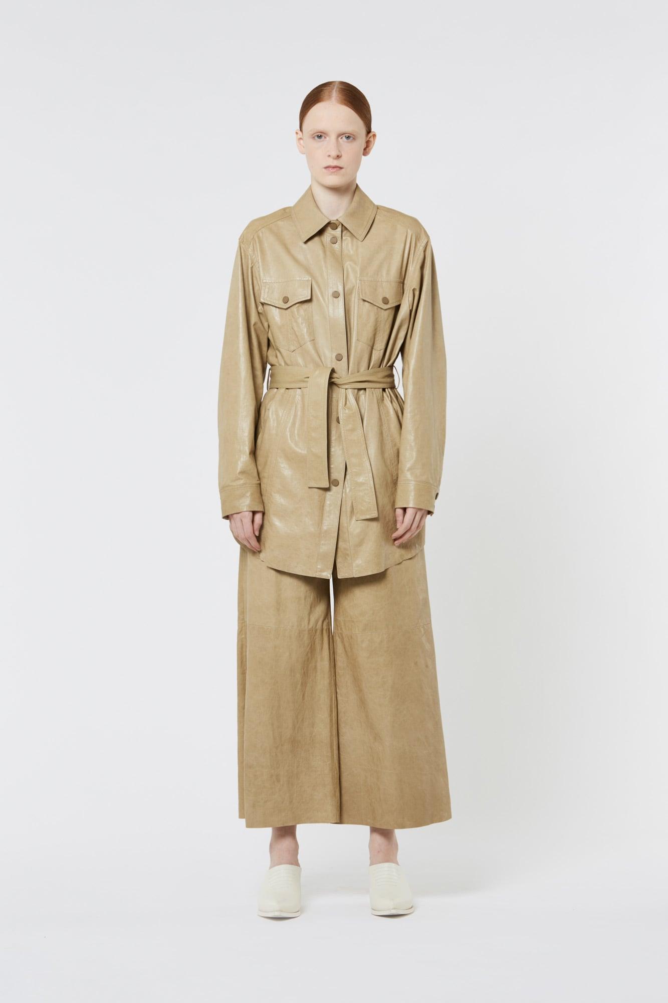 Khaki Nappa Jacket