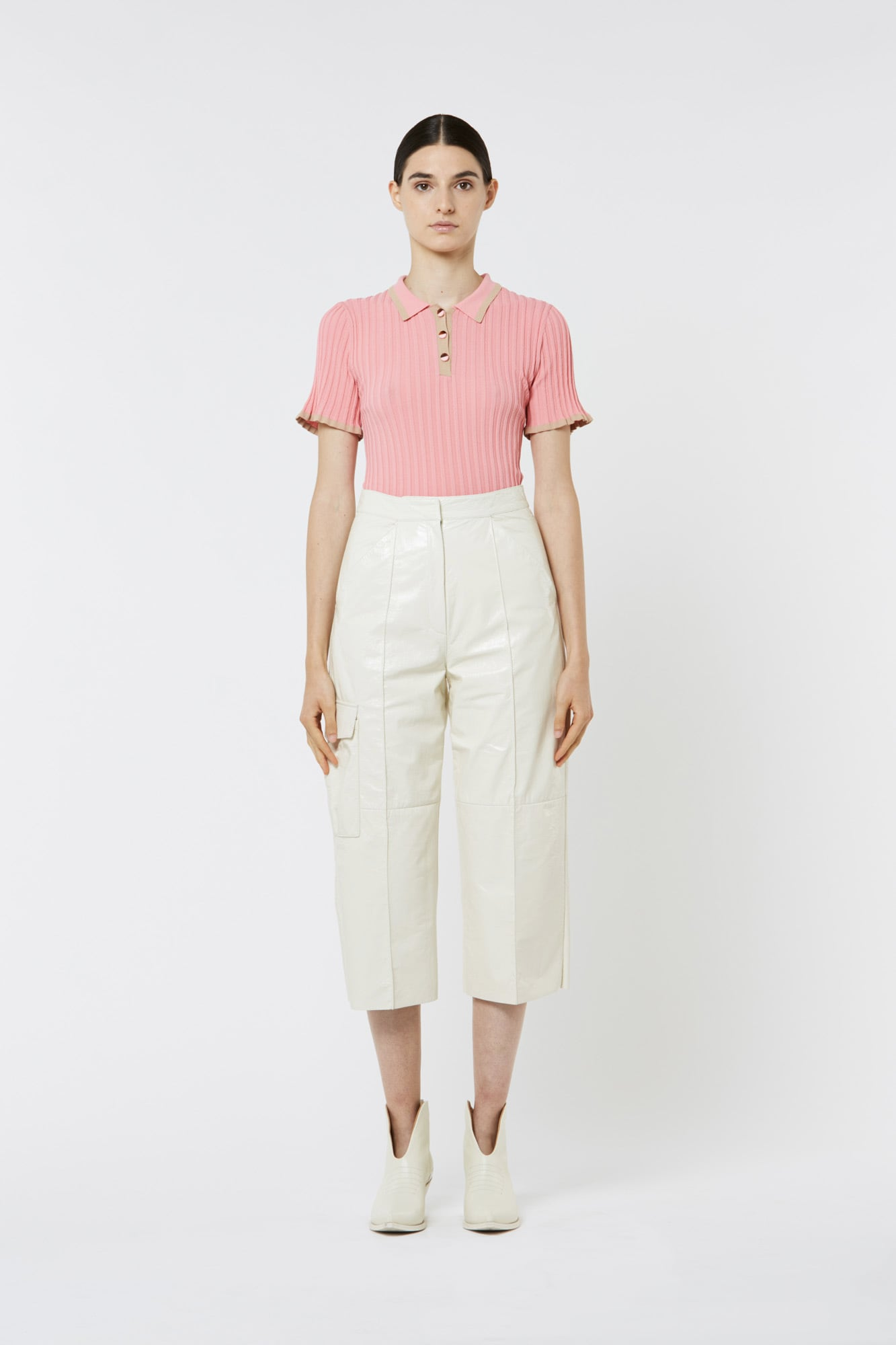 Pink Pleated Viscose Top
